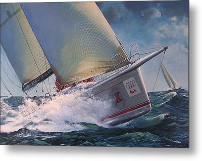 Race To The Finish - Wild Oats X Metal Print