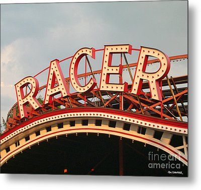Racer Coaster Kennywood Park Metal Print by Jim Zahniser