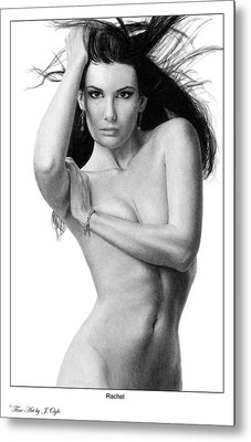 Metal Print featuring the drawing Rachel by Joseph Ogle