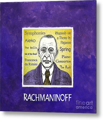 Rachmaninoff Metal Print by Paul Helm
