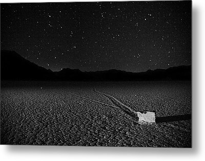 Metal Print featuring the photograph Racing Across The Playa At Night by Peter Thoeny