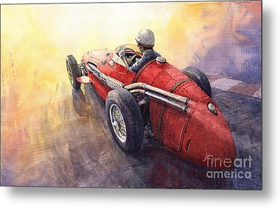 Racing Light Maserati 250 F Metal Print by Yuriy  Shevchuk