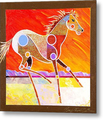 Metal Print featuring the painting Racing The Desert by Bob Coonts