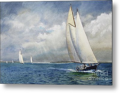Racing The Wind Metal Print