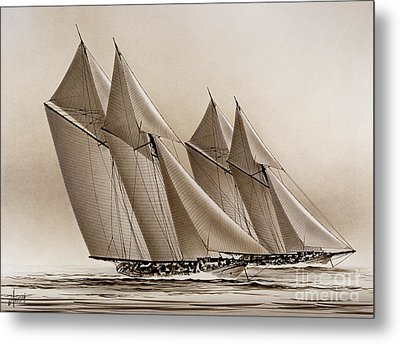 Racing Yachts Metal Print