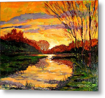 Raders Pond Day Break Sold Metal Print by Charlie Spear
