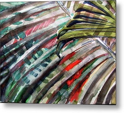 Radiant Palms Metal Print by Mindy Newman