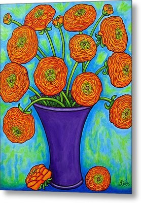 Radiant Ranunculus Metal Print by Lisa  Lorenz