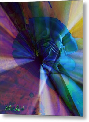 Radiating Light Metal Print by Miriam Shaw