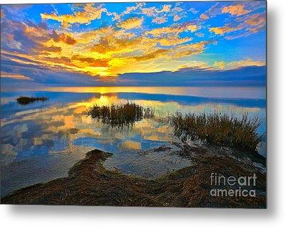 Radical Sunset Over Pamlico Sound Outer Banks Metal Print