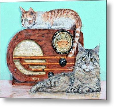 Radio Cats Metal Print by Chris Dreher