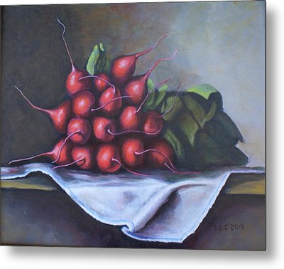 Radishes From The Garden Metal Print
