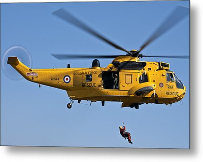 Raf Sea King Search And Rescue Helicopter 2 Metal Print