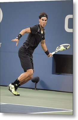 Rafael Nadal In Attendance For Us Open Metal Print by Everett