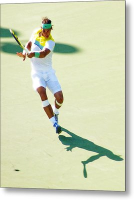 Rafael Nadal Shadow Play Metal Print