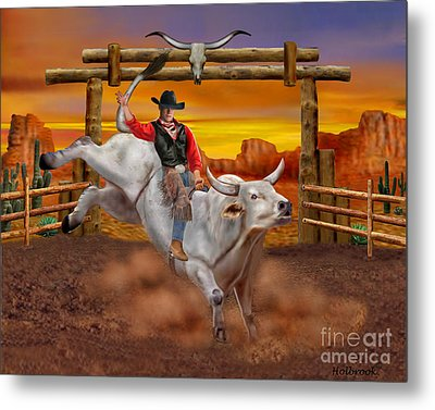 Ride 'em Cowboy Metal Print by Glenn Holbrook