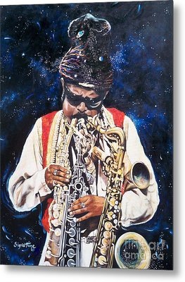 Rahsaan Roland Kirk- Jazz Metal Print by Sigrid Tune