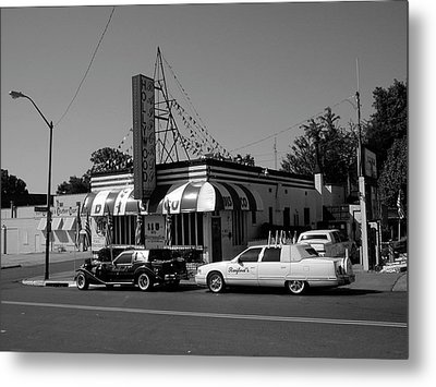 Metal Print featuring the photograph Raifords Disco Memphis A Bw by Mark Czerniec