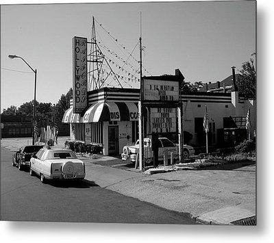 Metal Print featuring the photograph Raifords Disco Memphis B Bw by Mark Czerniec