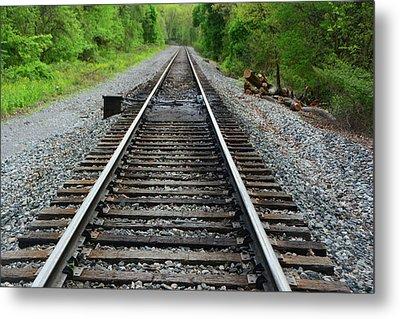 Rail Road Crossing Before Mason Dixon State Line Metal Print by Raymond Salani III