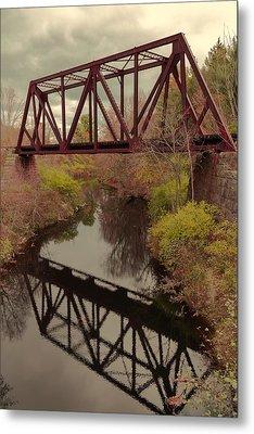 Railroad Bridge Metal Print by Laurie Breton