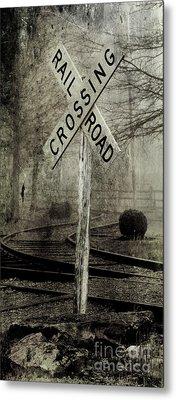 Railroad Crossing Metal Print by Michael Eingle