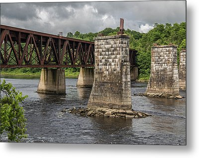 Railroad Trestle Metal Print by Laurie Breton