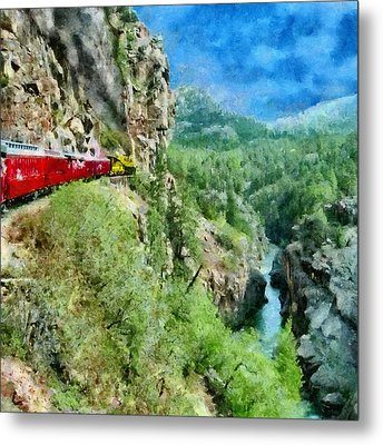 Rails Above The River Metal Print by Jeff Kolker
