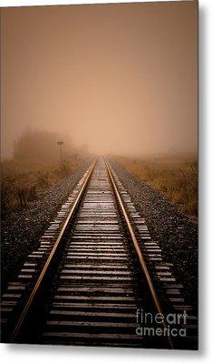 Rails V Metal Print by Ian McGregor