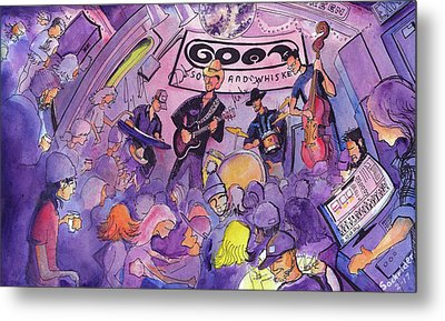 Railbenders At The Goat Soup And Whiskey Metal Print