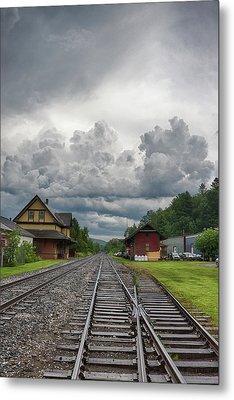 Rail Station Storm Metal Print by Nathan Larson