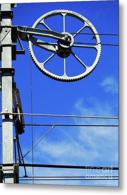 Railway Catenary Metal Print