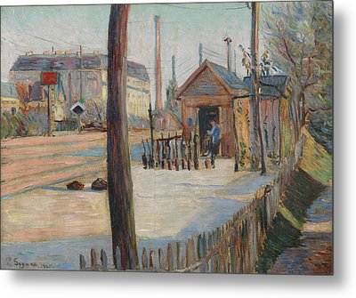 Railway Junction Near Bois-colombes  Metal Print