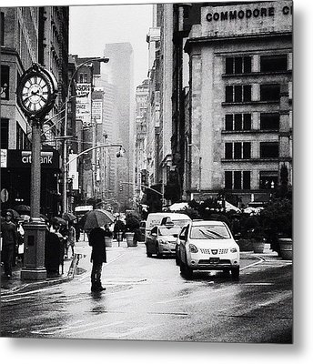 Rain - New York City Metal Print