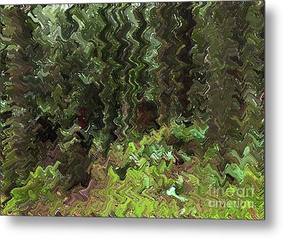 Rain Forest Abstract Metal Print by Sharon Talson