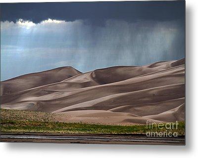 Rain On The Great Sand Dunes Metal Print