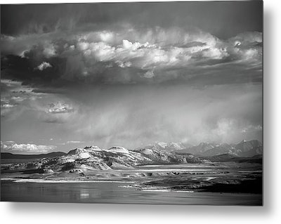 Metal Print featuring the photograph Rain Over Crater Mountain by Alexander Kunz