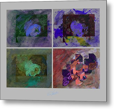 Rain Purple Metal Print