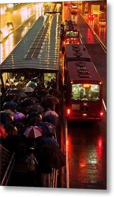 Rain Rush Hour Metal Print by Jess Kraft
