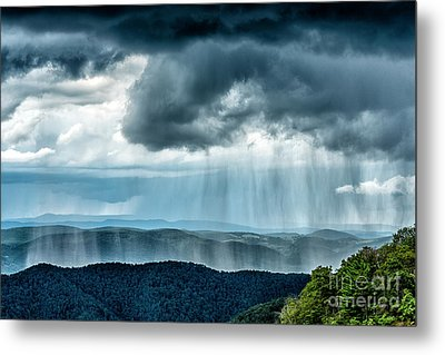 Metal Print featuring the photograph Rain Shower Staunton Parkersburg Turnpike by Thomas R Fletcher