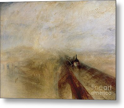 Rain Steam And Speed Metal Print by Joseph Mallord William Turner