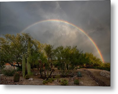 Metal Print featuring the photograph Rain Then Rainbows by Dan McManus