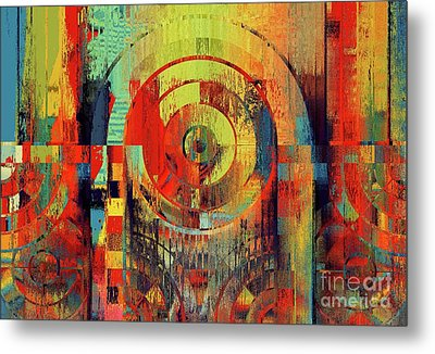Metal Print featuring the digital art Rainbolo - 01t01ii by Variance Collections