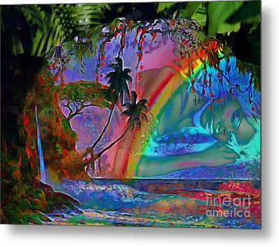Rainboow Drenched In Layers Metal Print by Catherine Lott