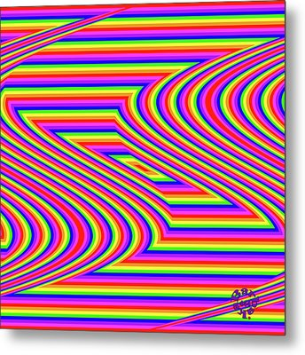 Metal Print featuring the digital art Rainbow #5 by Barbara Tristan