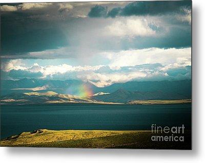 Rainbow Above Lake Manasarovar Kailash Yantra.lv Metal Print