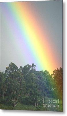 Rainbow And Misty Skies Metal Print by Erik Aeder - Printscapes