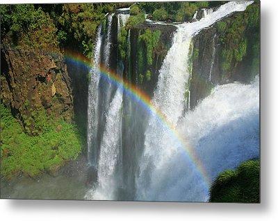 Rainbow At Iguazu Falls Metal Print