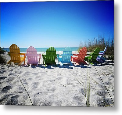 Rainbow Beach Vanilla Pop Metal Print