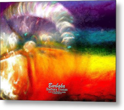 Metal Print featuring the photograph Rainbow Bliss #052833_ii by Barbara Tristan